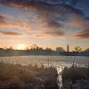 Winter Sunrise. Keywords: Andy Morley;sunrise;water;clouds;dawn;Bedworth;Sloughs